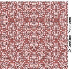 Seamless Damask Pattern Background