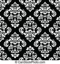 Damask Pattern - Seamless Damask Pattern. Colors are easily ...