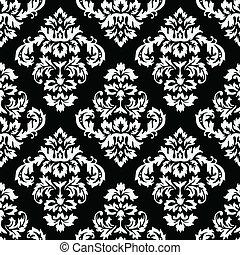 Damask Pattern - Seamless Damask Pattern. Colors are easily ...