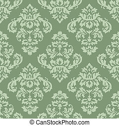 Seamless Damask Pattern. Colors are easily editable.