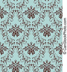 seamless damask pattern - Damask seamless backgroun