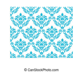 seamless damask pattern - Damask seamless vector background....
