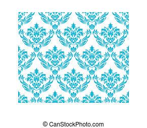 seamless damask pattern - Damask seamless vector background....