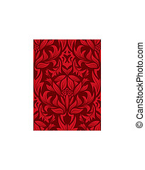 Damask seamless vector background. For easy making seamless pattern just drag all group into swatches bar, and use it for filling any contours.