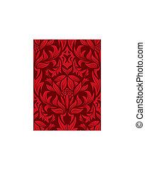 seamless damask pattern - Damask seamless vector background...