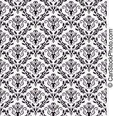 Damask seamless vector pattern. For easy making seamless pattern just drag all group into swatches bar, and use it for filling any contours.
