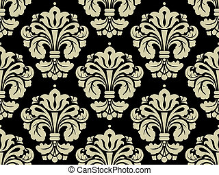Seamless Damask Pattern for Background