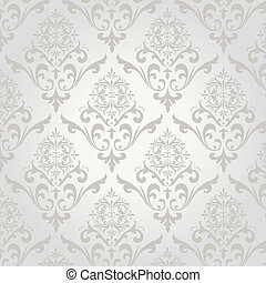 This image is a vector file representing a seamless damask pattern.