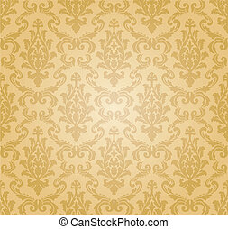 seamless damask pattern, perfectly tile-able both vertically and horizontally; scalable and editable vector illustration;