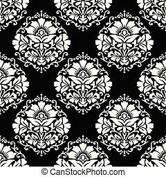 Seamless damask rich dark wallpaper