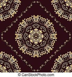 Seamless Damask Vector Background