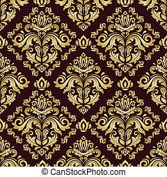 Seamless Damask Vector Background