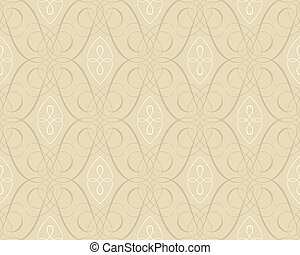 tiling wallpaper with retro design done in gold tones