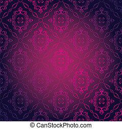 Seamless Damask Wallpaper - Vector Illustration of Seamless...