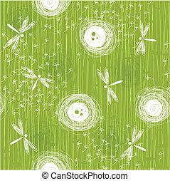 seamless dandelions