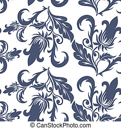 seamless dark blue pattern