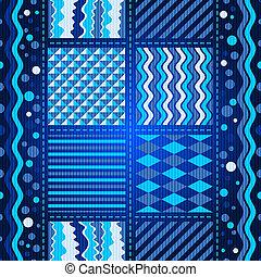 Seamless dark blue wave pattern