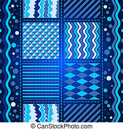 Seamless dark blue wave pattern