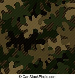 Seamless dark green and brown military camouflage pattern vector