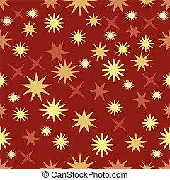 Seamless dark red background with gold stars, christmas background wallpaper, elegant xmas wrap paper