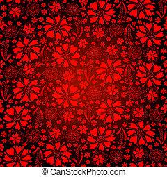 Seamless dark-red floral pattern