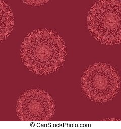 Seamless dark red floral pattern