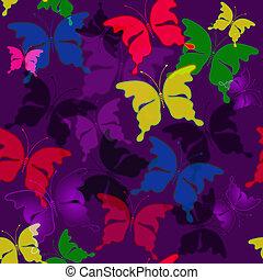 Seamless dark violet pattern