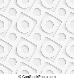 Seamless Decorative Background - Vector Abstract Seamless...