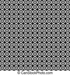 Seamless decorative circle pattern