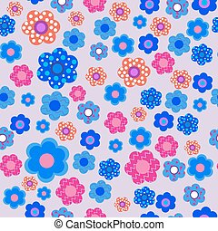 Seamless decorative floral pattern on a lilac background