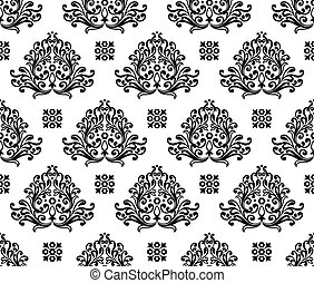 Seamless decorative wallpaper
