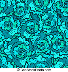 Seamless decorative wavy pattern green