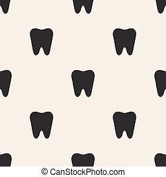seamless, dente, padrão, fundo
