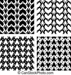 seamless, dentelle, patterns., tricoté