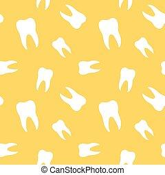 seamless, dentes, odontologia, padrão