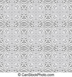 seamless, desenhista, padrão floral