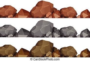 Seamless design of rocks
