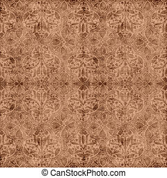 Seamless design of softly colored a - Seamless worn brown...