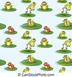 Seamless design of the frogs at the pond