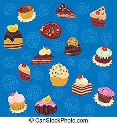 Seamless Desserts Pattern