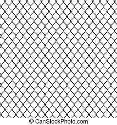 Seamless detailed chain link fence pattern texture.