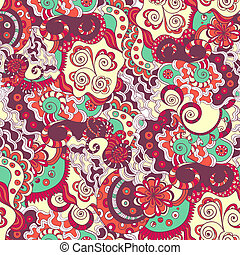 Seamless detailed floral ornament texture