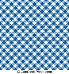 Seamless diagonal blue gingham pattern background