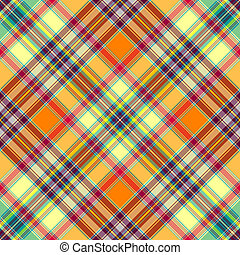 Seamless diagonal checkered pattern - Seamless yellow-orange...