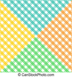 Seamless diagonal gingham pattern in four colors - Seamless ...