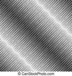 Seamless diagonal halftone background. Black and white texture