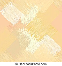 Seamless diagonal pattern with grunge striped square elements in yellow, pink, white pastel colors