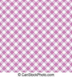 Seamless diagonal plum gingham pattern background