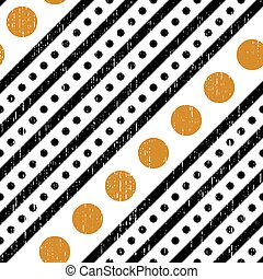 Seamless Diagonal Stripe and Circle Pattern