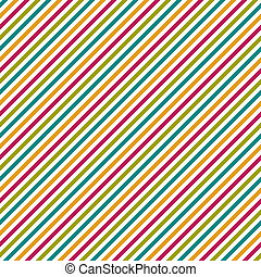 Diagonal stripe pattern in hot pink, bright turquoise, yellow, green, and white. Seamless.